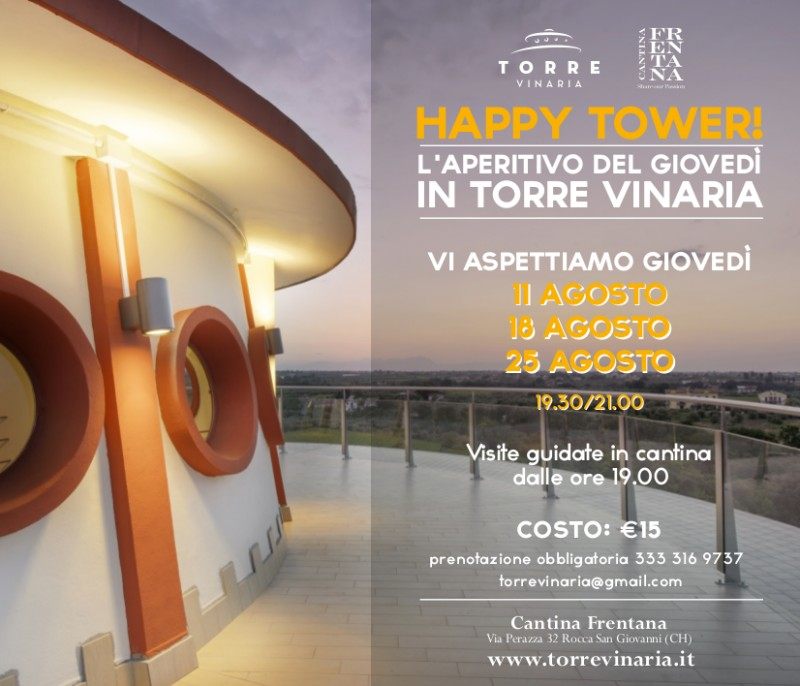 HAPPY TOWER - THE THURSDAYS APERITIF ON TORRE VINARIA