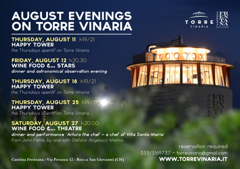 August evenings on Torre Vinaria